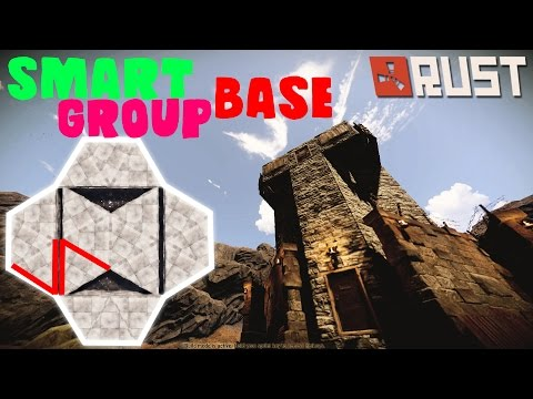 THE MACHINE Smart Group Base! - RUST Base Building
