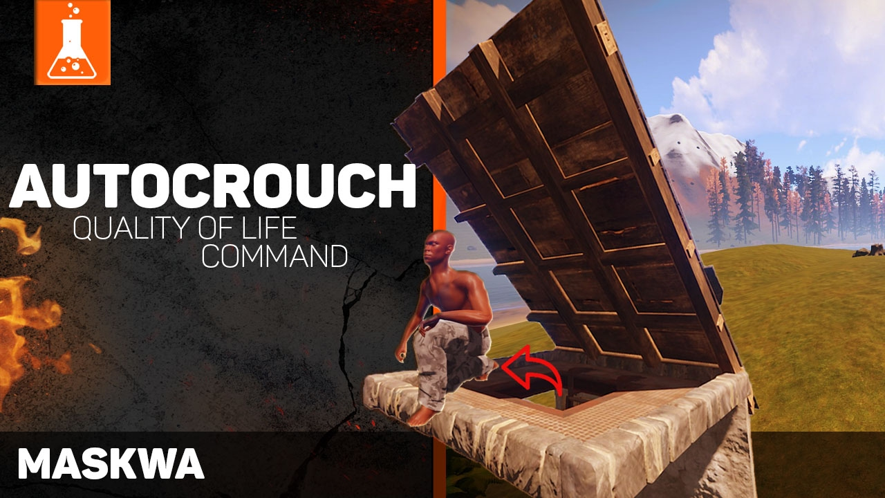 Rust Laboratory #01 Autocrouch | Quality of life command | Rust Secrets | Rust auto crouch