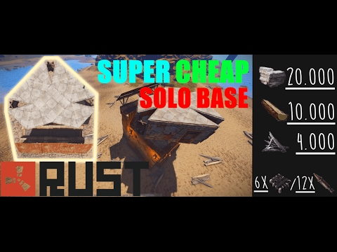 CHEAP SOLO/DUO BASE (High-Pop Vanilla) | RUST BASE BUILDING