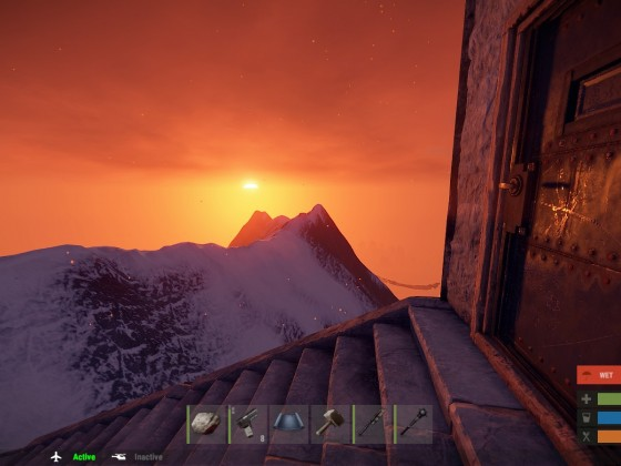 Sunset over the summit