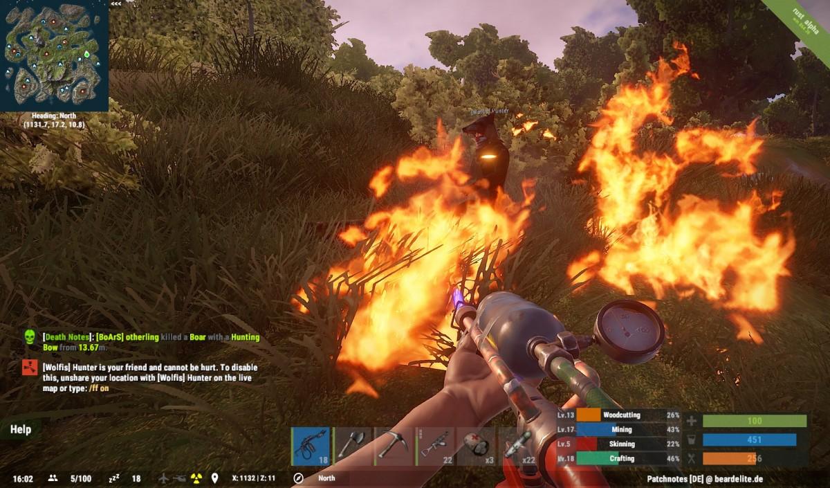 Mit Feuer spielen